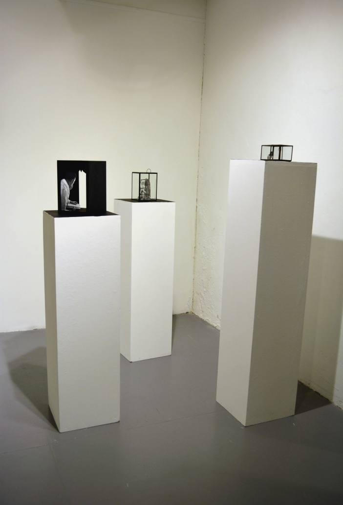 Skulpturer med elementer av collage, 2015 Sculptures with elements of collage, 2015